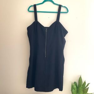 Abercrombie & Fitch black zip front mini dress